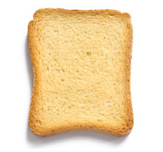 calories in brown toast